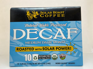 Solar Roast Recyclable Single Serve Pod - Decaf Med/Dark Roast
