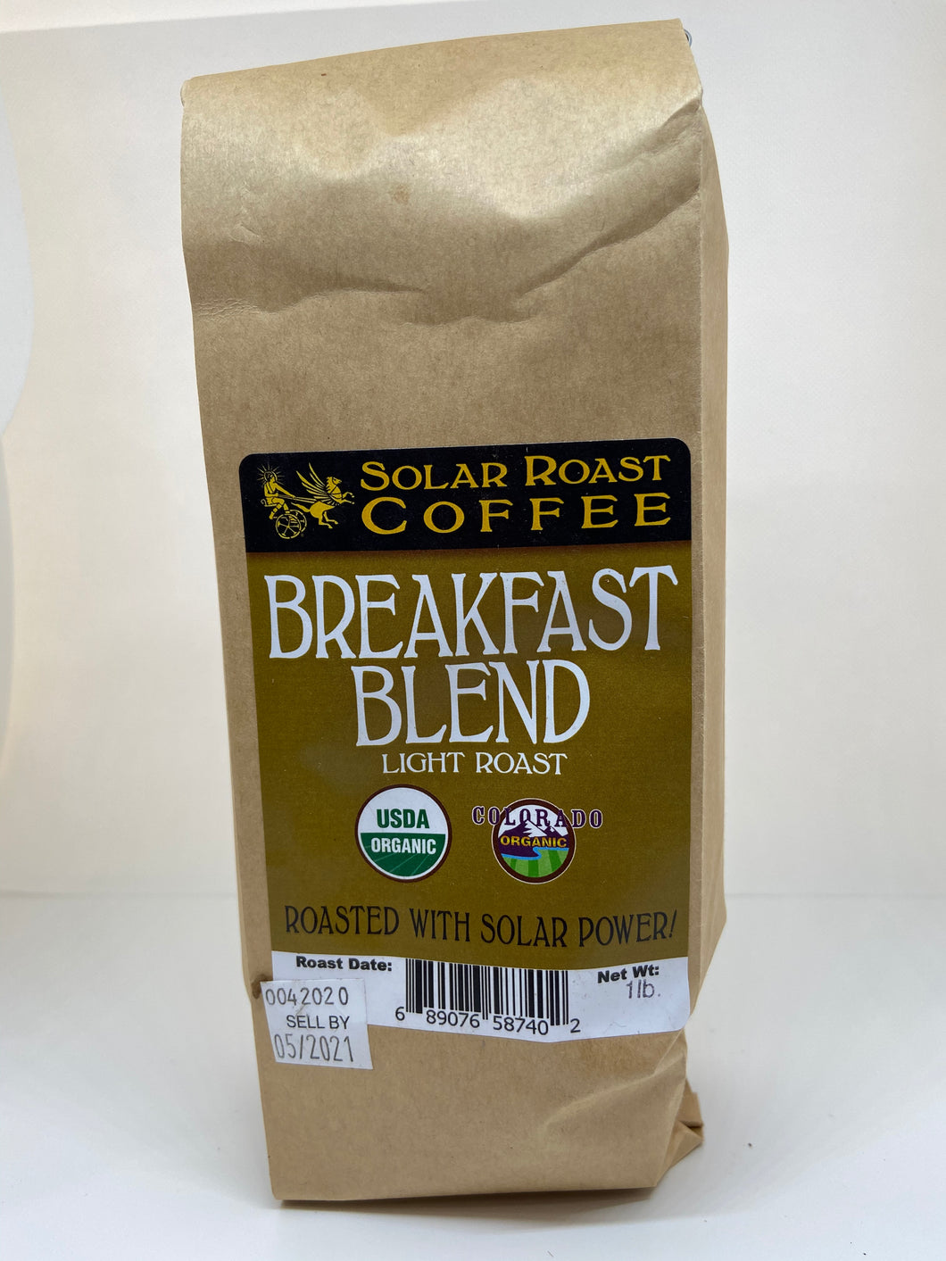 Solar Roast Organic Breakfast Blend - Light Roast