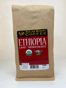 Solar Roast Ethiopia Organic Coffee - Light Roast