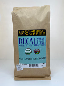 Solar Roast Decaf Organic Coffee - Medium/Dark Roast