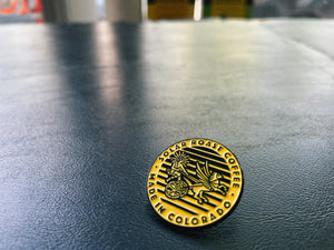 Solar Roast Coffee Made In Colorado Enamel Pin
