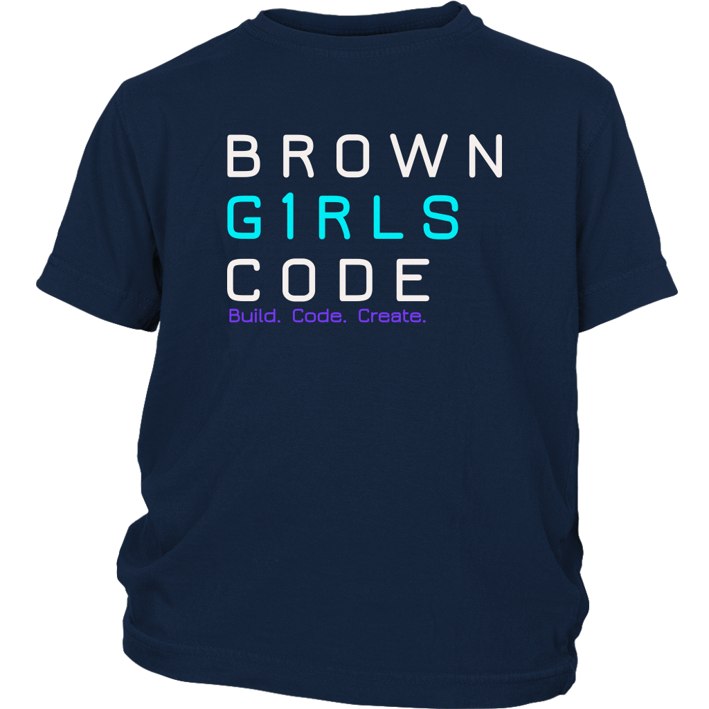 Brown Girls Code - BCC YOUTH Tee (2 colors)