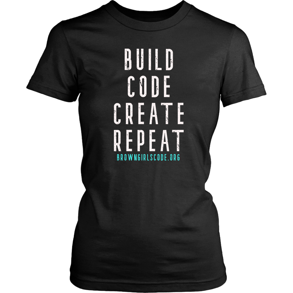 Build. Code. Create. Repeat Tee