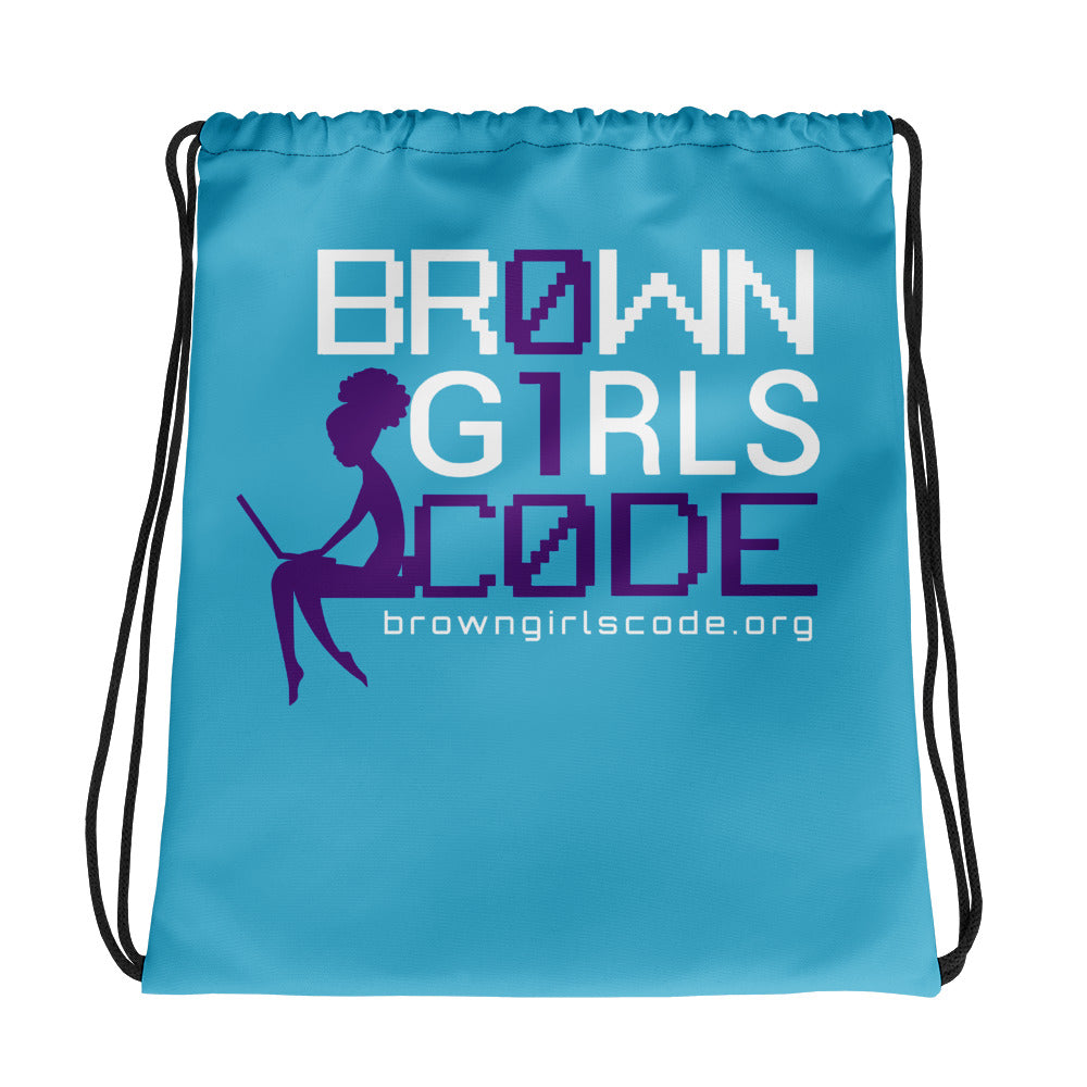 Brown Girls Code -Drawstring bag