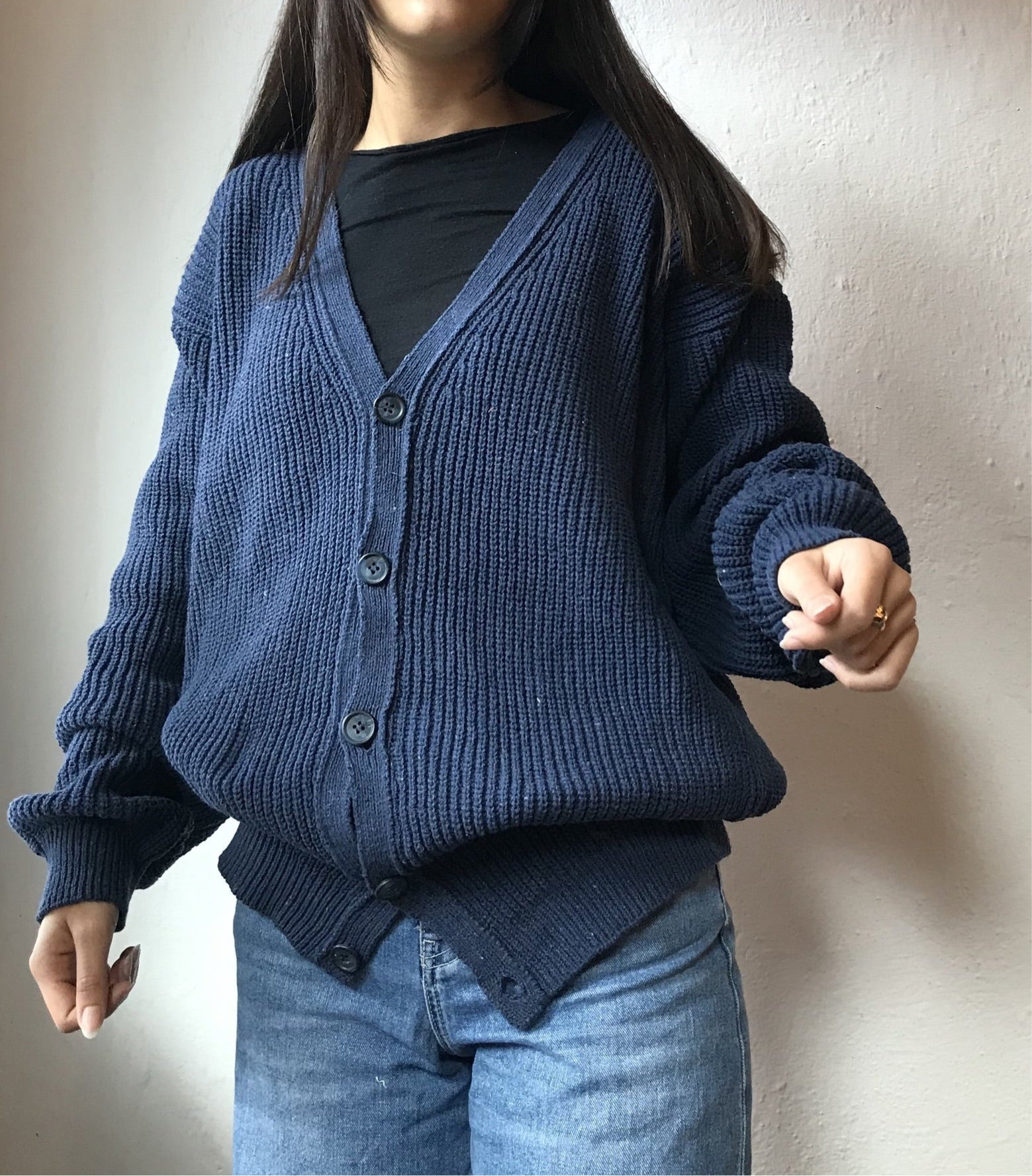 2nd LIFE - Cardigan in navy