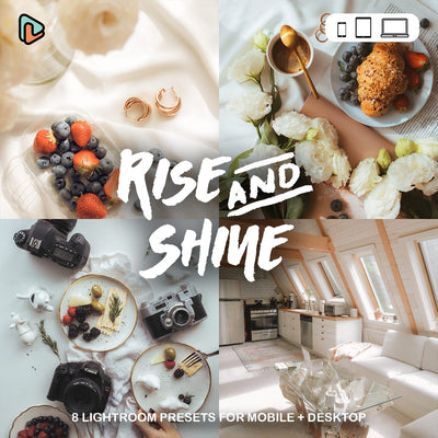Rise & Shine Collection Lightroom Presets (Mobile + Desktop) Yantastic lightroom presets mobile desktop.