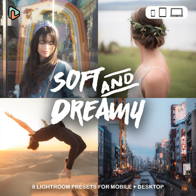 Soft & Dreamy Collection Lightroom Presets (Mobile + Desktop) Yantastic lightroom presets mobile desktop.