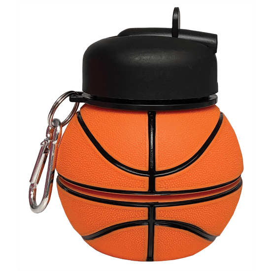 Iscream - Basketball Silicone Collapsible Water Bottle
