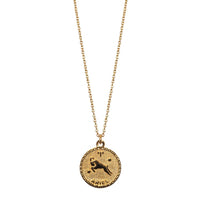 Marlyn Schiff Jewelry - Aries GF Zodiac Coin Necklace