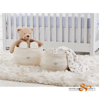Mudpie - Med. Ivory Animal Basket