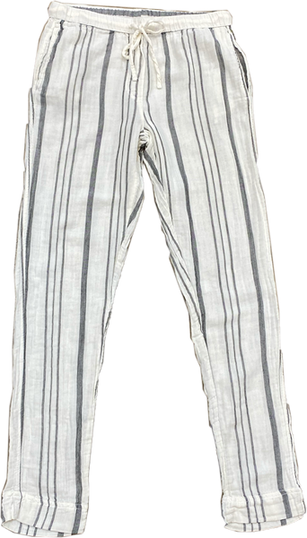 Dylan - Stripe Drawstring Pant - Natural