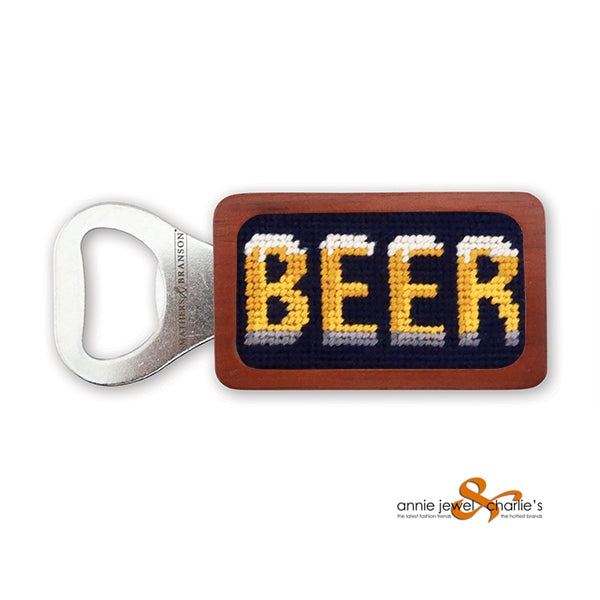 Smathers & Branson - Beer Needlepoint Bottle Opener