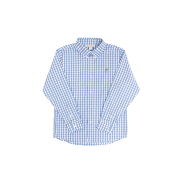 Beaufort Bonnet - Deans List Dress Shirt Barbados Blue w/ Gingham/Barbados Blue Stork