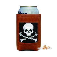 Smathers & Branson - Jolly Roger Needlepoint Can Cooler
