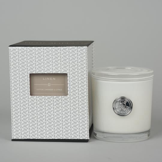 Fifth & Madison - Linen Greenwich Single Wick Candle Jar
