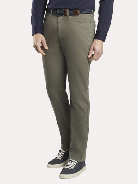 Peter Millar - Ultimate Sateen Five-Pocket Pant in Olive