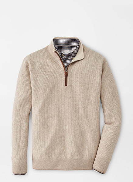 Peter Millar - Wool-Cashmere Quarter-Zip Sweater Scotch or Navy See Below