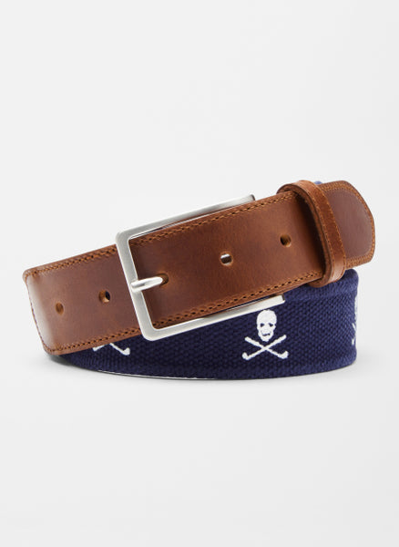 Peter Millar - Skulls Canvas Belt