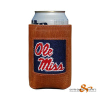 Smathers & Branson - Ole Miss (Dark Navy) Needlepoint Can Cooler
