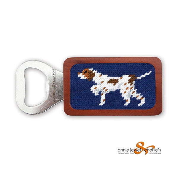 Smathers & Branson - Pointer (Classic Navy) Needlepoint Bottle Opener