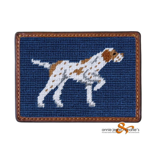 Smathers & Branson - Pointer Needlepoint Card Wallet