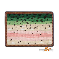 Smathers & Branson - Rainbow Trout Skin Needlepoint Card Wallet