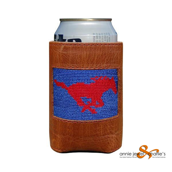 Smathers & Branson - SMU Needlepoint Can Cooler