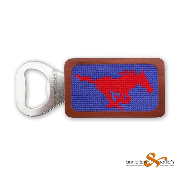 Smathers & Branson - SMU Needlepoint Bottle Opener