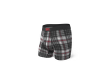 Saxx Underwear - Ultra Grey Tartan Boxer Brief Fly