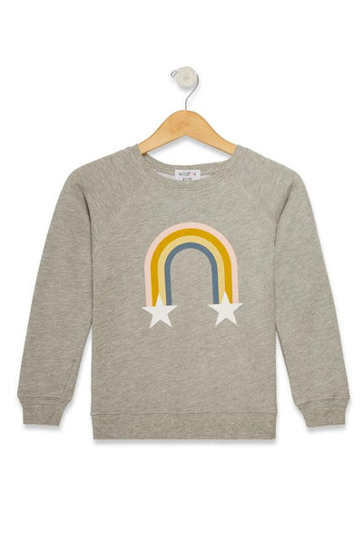 Wildfox Kids - Littlefox Rainbow Stars Sommers Sweater Heather