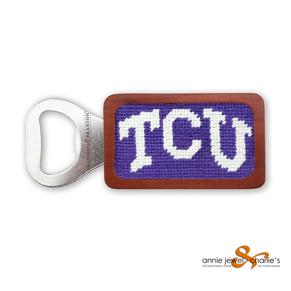 Smathers & Branson - TCU (Purple) Needlepoint Bottle Opener