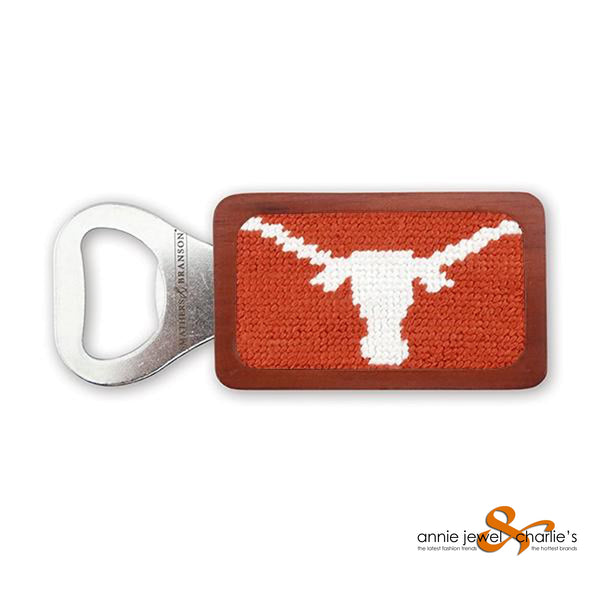 Smathers & Branson - Texas (Burnt Orange) Needlepoint Bottle Opener