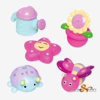 Elegant Baby - Bath Springtime Squirties Set of 5