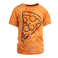 Appaman - Graphic Short Sleeve Top Pizza Slice Orange Tie Dye