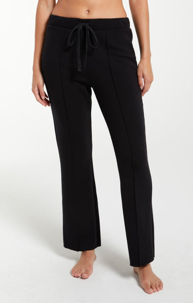 Z Supply - Black Peyton Cropped Sweatpant