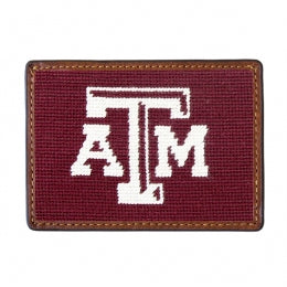 Smathers & Branson - Texas A&M Needlepoint Credit Card Wallet ( Maroon)