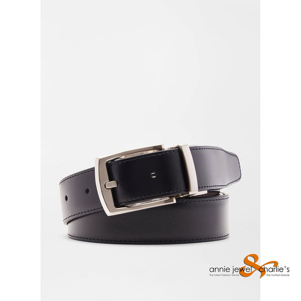 Peter Millar - Black/Brown Reversible Leather Belt