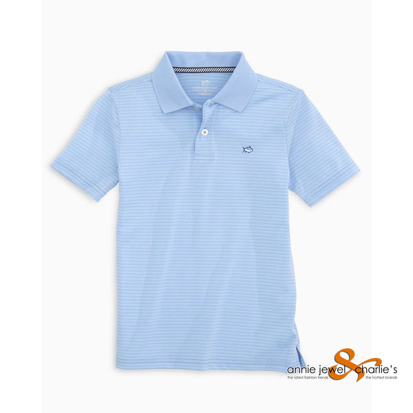 Southern Tide - Y Sky Blue Stripe Polo