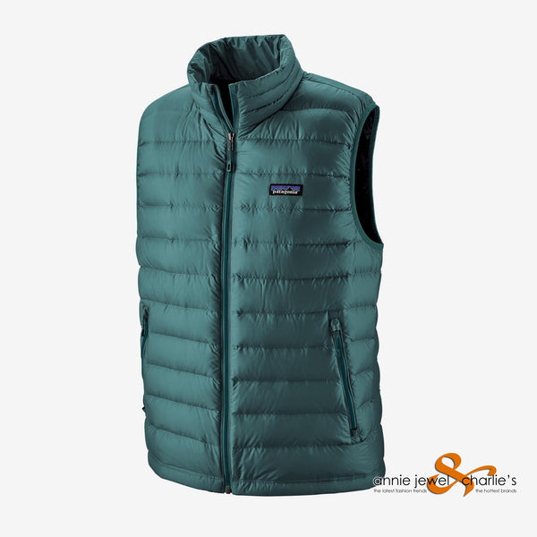 Patagonia - Men's Teal Down Sweater Vest