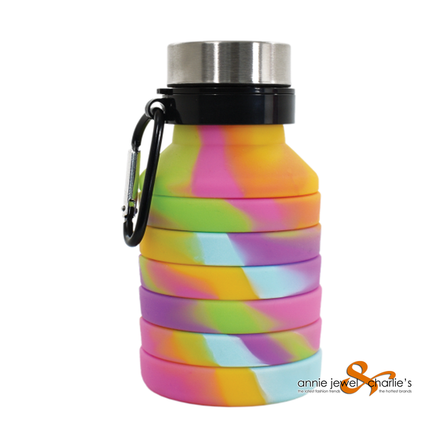 Iscream - Collapsible Water Bottle Tie Dye