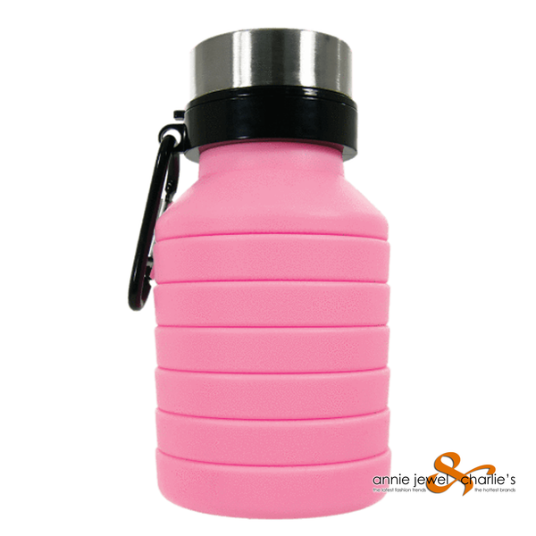 Iscream - Assorted Silicone Collapsible Water Bottles Please pick your COLOR!