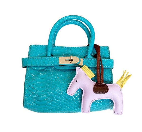 Lola and The Boys - Mini Croc Bag Blue/Teal