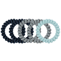 Emi Jay - Set of 5 Large Matte Twist Hair Ties