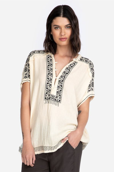 Johnny Was - Brunay Gauze Blouse Tusk