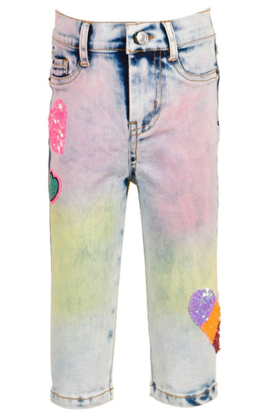 GBYM - Rainbow Denim Capri