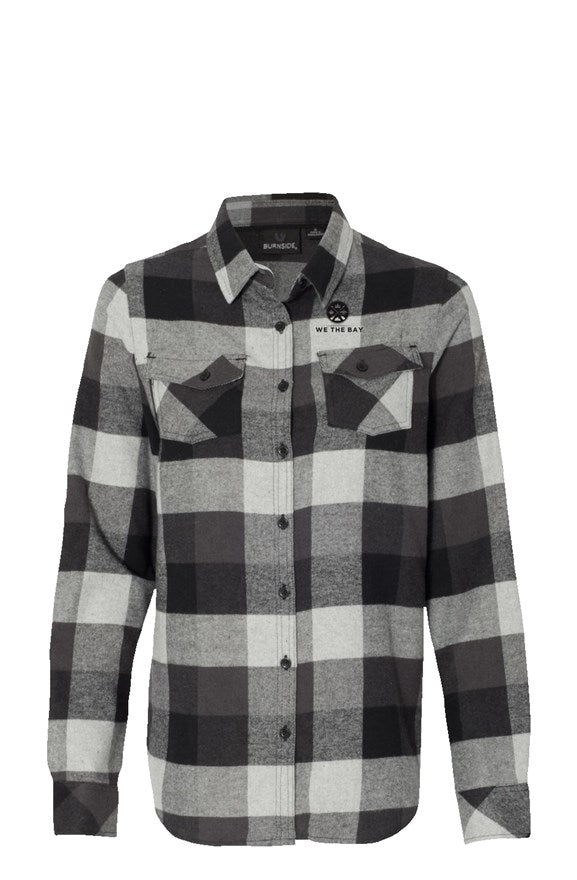 Burnside Grey and Black Flannel