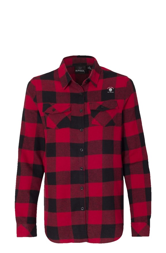Womens Long Sleeve Victoria Harbour Red Flannel