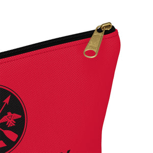 Accessory Pouch w T-bottom - Red