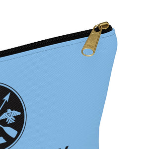 Accessory Pouch w T-bottom - Blue