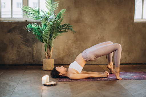 a women doing the yoga pose backbends